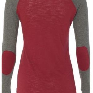 Boxercraft Preppy Patch Garnet Long Sleeve T-Shirt